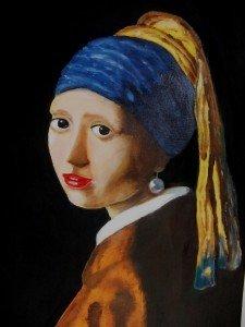27.Fille à la  perle, d'après Vermeer mars 2014